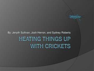 Heating Things up with Crickets