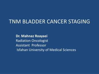 TNM BLADDER CANCER STAGING