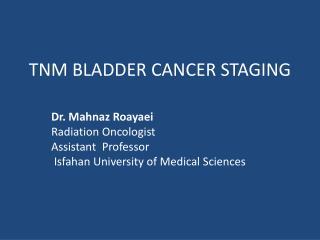 TNM BLADDER CANCER STAGING