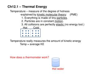 Ch12.1 – Thermal Energy