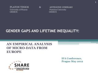 GENDER GAPS AND LIFETIME INEQUALITY: