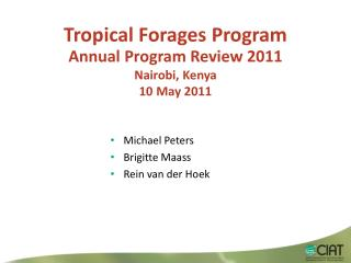 Tropical Forages Program
