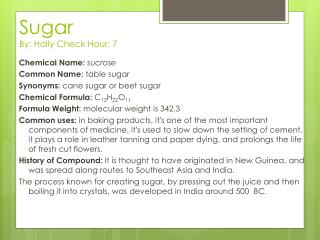 Sugar  By: Holly Check Hour: 7
