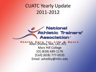 CUATC Yearly Update 2011-2012