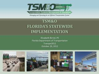 TSM&O   Florida's Statewide Implementation
