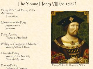 The Young Henry VIII (to 1527)