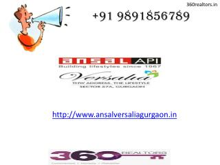 Ansal Versalia -3 & 4 BHK Luxury Floors @ Sec 67A