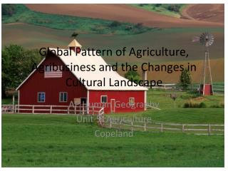 Global Pattern of Agriculture, Agribusiness and the Changes in Cultural Landscape