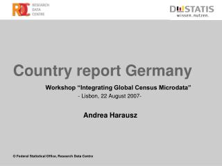 Country report Germany