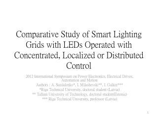 2012 International Symposium on Power Electronics, Electrical Drives, Automation and Motion