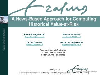 A News-Based Approach for Computing Historical Value-at-Risk