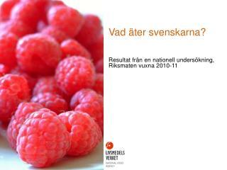 Vad äter svenskarna?