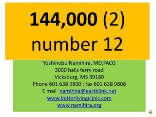 144,000  (2) number 12