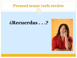 Present tense verb review