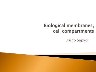 Biological membranes,  cell  compartments