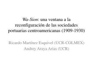 Ricardo Martínez Esquivel (UCR-COLMEX) Andrey  Araya Arias (UCR)