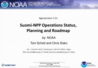 Agenda Item: 5.f.ii Suomi -NPP Operations Status,  Planning and Roadmap