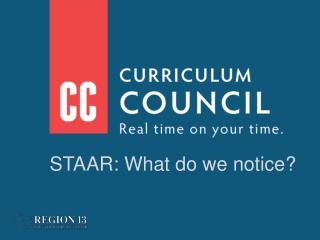 STAAR: What do we notice?