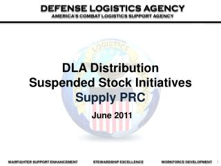 DLA Distribution  Suspended Stock Initiatives Supply PRC