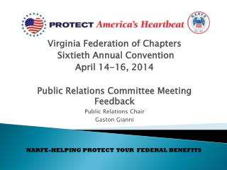 Virginia Federation of Chapters  Sixtieth Annual Convention April 14-16, 2014