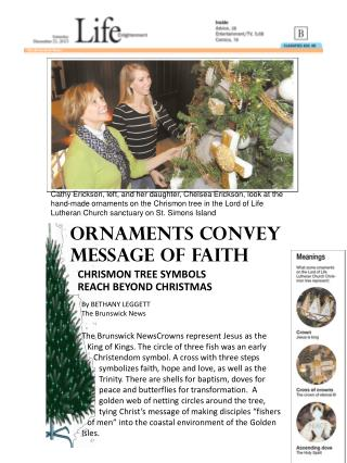Ornaments convey message of  faith