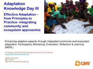 Adaptation Knowledge Day III