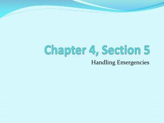 Chapter 4, Section 5