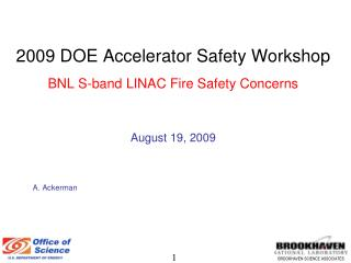 BNL S-Band  Electron LINAC's