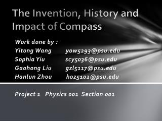The Invention, History and Impact of Compass