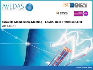 euroCRIS Membership Meeting – CASRAI  D ata  Profiles  in CERIF 2013- 05-13