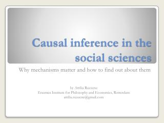 Causal inference in the social sciences