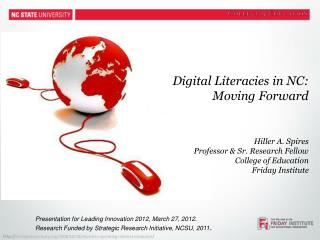 Digital  Literacies  in NC:  Moving Forward