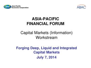 ASIA-PACIFIC FINANCIAL FORUM