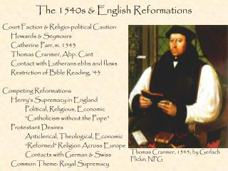 The 1540s & English Reformations