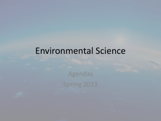Environmental Science Ch. 10: Biodiversity