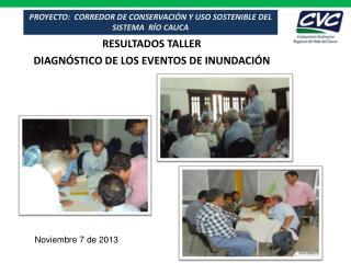 PROYECTO:  CORREDOR DE  CONSERVACIÓN  Y USO SOSTENIBLE DEL SISTEMA   RÍO  CAUCA