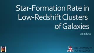 Star-Formation Rate in Low-Redshift Clusters  of Galaxies
