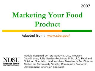 Marketing Your Food Product