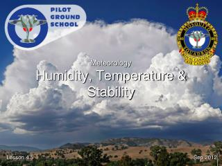 Meteorology Humidity, Temperature & Stability