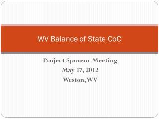WV Balance of State  CoC
