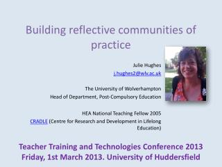 Building reflective communities of practice