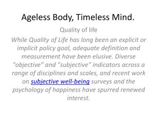 Ageless Body, Timeless Mind .