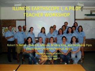 Illinois EarthScope I, a pilot teacher workshop