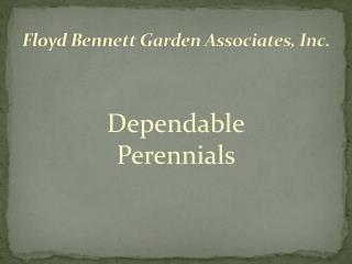 Floyd Bennett Garden Associates, Inc.