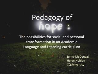 Pedagogy of