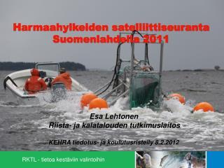 Harmaahylkeiden satelliittiseuranta Suomenlahdella 2011