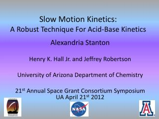 Slow Motion Kinetics: A Robust Technique For Acid-Base Kinetics