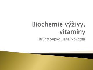 Biochemie výživy, vitamíny