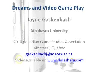 Dreams and Video Game Play