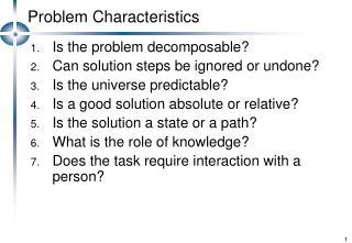 Problem Characteristics